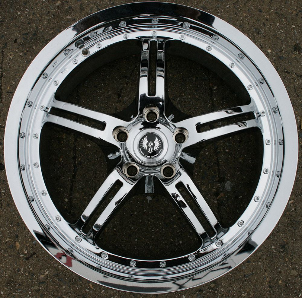 STERN JOCK FACE 19 CHROME RIMS WHEELS FORD ESCAPE 02 up / 19 x 8.5 5H