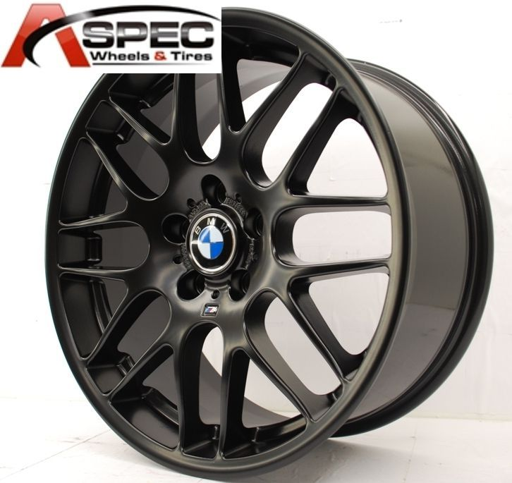 18 WHEELS + TIRES CSL STYLE BLACK RIM FIT BMW E46 E90 128 135 323 325