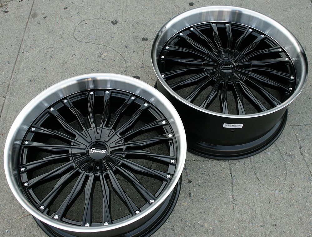 Gianelle Trentino L5 22 Black Rims Wheels E38 E65 7 Series 22 x 9 0